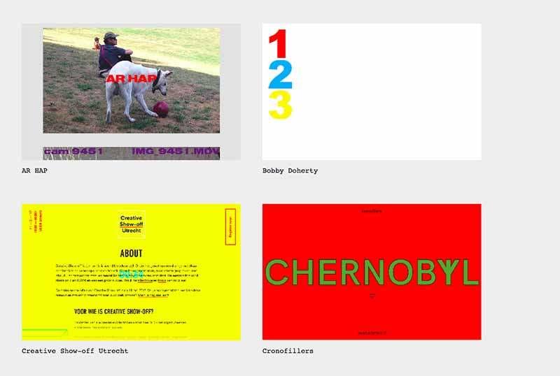 A screenshot of a selection from Brutalist Websites.